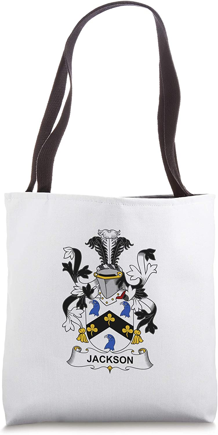 Jackson Coat of Arms - Family Crest Tote Bag
