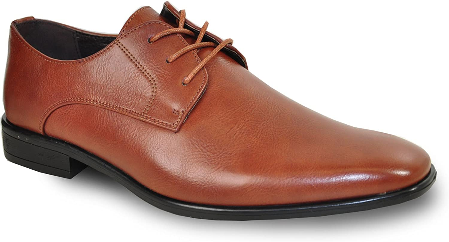 Bravo! Men Dress Shoe Big Size Extra Large Size 16 to 18 with Leather Lining - Wide Width Available