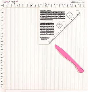 Vaessen Creative Score Easy Plaque de Rainurage en CM avec Plieuse Os et Guide pour Fabriquer des Cartes et des Loisirs Cr...