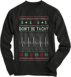 Gnarly Tees Men's Don't Be Tachy Ugly Christmas Sweater
