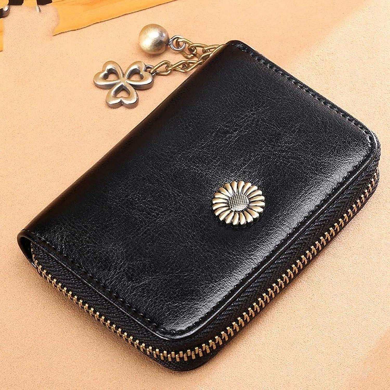 Girls Purse Women's PU Leather Short BiCard Bag MultiCard Card Bag MiniCard Bag Pocket Change Bag (color   B)