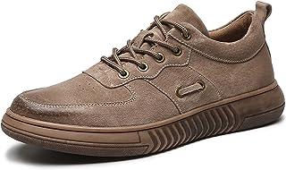 Zapatos casuales Zapatos de deportes para hombres, zapatos de cuero retro de cuero de pie, cordones zapatos casuales de co...