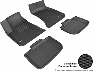 3D MAXpider Complete Set Custom Fit All-Weather Floor Mat for Select Chrysler 300/300C RWD Models - Kagu Rubber (Black)