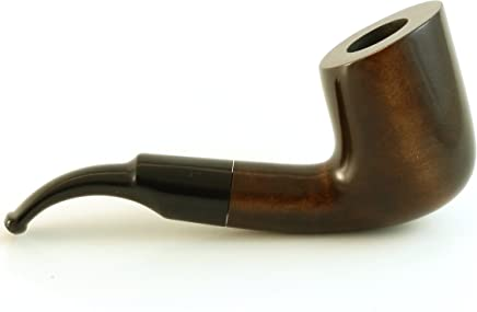Mr. Brog Full Bent Tobacco Pipe - Model No: 37 Viking Walnut - Pear
