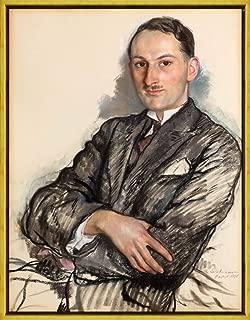 Berkin Arts Framed Zinaida Serebriakova Giclee Canvas Print Paintings Poster Reproduction(Portrait of Félicien Cacan) #XLK