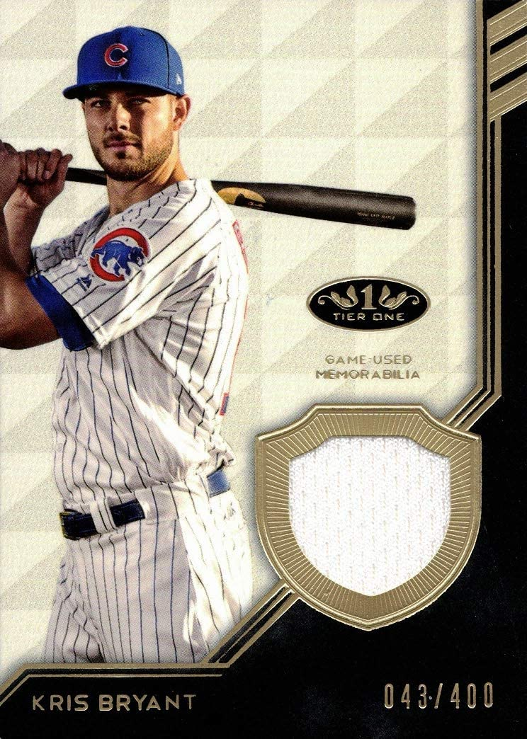 2019 shopping Topps Raleigh Mall Tier One Relics #T1R-KB Cubs Je Game Kris Bryant Worn