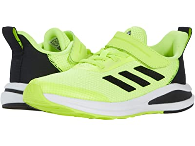 adidas Kids Fortarun Elastic (Little Kid) (Solar Yellow/Black/White) Kid