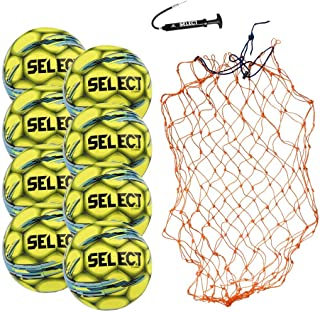 Select Campo Soccer Ball Package - Pack of 8 Soccer Balls with Ball Net and Hand Pump