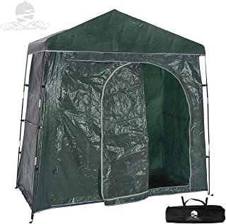 Bravindew Outdoor Bike Storage Shed Tent Heavy Duty Space Saving Bicycle Garden Pool Storage Shed All Season Weatherproof Reusable Bike Shed with Waterproof Cover