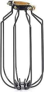 Rustic State Drop Vintage Design Metal Light Cage Guard – Decorative Lamp Shade Black