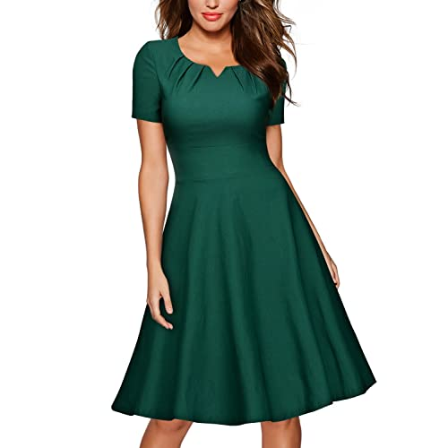 27a4430d9be2 MISSMAY Women's Retro 1950s Short Sleeve A-Line Cocktail Party Swing Dress