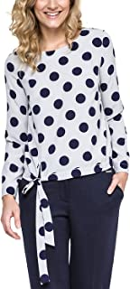 Ennywear 240121 Women's Shirt Polka dot Long Sleeved Zip - Made in EU