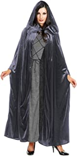 Beautiful BLACK Crushed Panne Velvet Hooded Cloak - Beautiful and Practical Renaissance Cloak, Gothic or even Dickens!