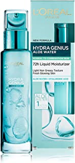 L'Oreal Paris Hydra Genius Aloe Water 72H Liquid Moisturizer Normal to Combination skin 70 ML