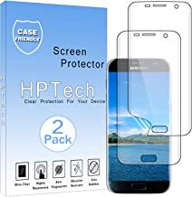 HPTech Galaxy S7 Edge Screen Protector - [2-Pack] for Samsung Galaxy S7 Edge [Full Coverage] Screen Protector Film HD Clear Anti-Bubble Free with Lifetime Replacement Warranty