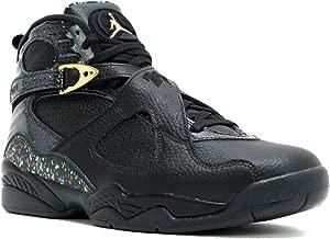 Nike Mens Air Jordan 8 Retro C&C Black/Metallic Gold Leather