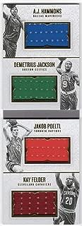 Jakob Poeltl Kay Felder A.J. Hammons Demetrius Jackson 2016-17 Panini Preferred Rookie Booklet Trending Upward Quad Jersey Card Serial #137/149
