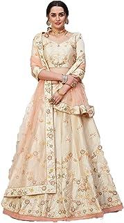 ETHNIC EEmporio IUM حرير التوت للمرأة الهندية ملابس الزفاف الترتر الخيط Lehenga Chaniya Choli Dupatta Alizeh