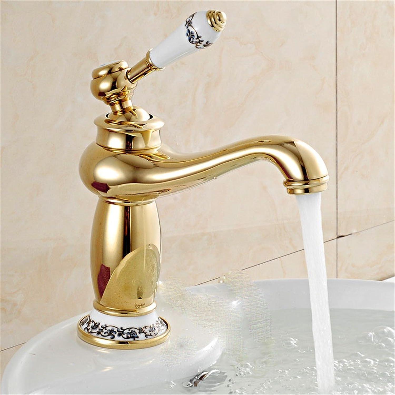 ETERNAL QUALITY Bad Waschbecken Wasserhahn Küche Waschbecken Wasserhahn Retro Kupferne Heie Und Kalte Umdrehung Waschtischmischer BEG2156