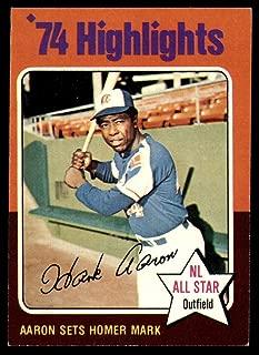 1975 hank aaron topps baseball card