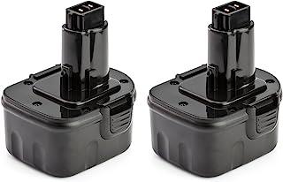 2 Pack ExpertPower 12v 2000mAh NiCd Battery for Dewalt DC9071 DW9072 DW9071 DE9075 DE9074..