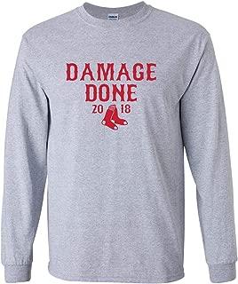 Damage Done Boston Series 2018 Champions Men's Long Sleeve T-Shirt Shirt - Sport Grey