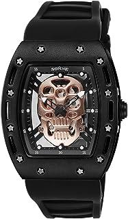 [ゾンネ]SONNE 腕時計 S160シリーズ ゴールド文字盤 ラバーベルト S160BK-BK メンズ