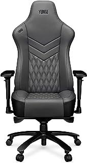 TBA YUMISU 2053 - Silla para juegos (aluminio mejorado, estructura con mecanismo Ergomultiblock), color negro y gris Respaldo y asiento muy suaves para mayor comodidad. Tiene ruedas de goma.