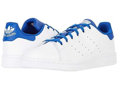 adidas Originals Kids Stan Smith (Big Kid) (Footwear White/Team Royal Blue/Team Royal Blue) Kids Shoes