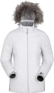Mountain Warehouse Arctic Air Womens Down Padded Winter Ski Jacket - Snowproof, Waterproof, Breathable with Detachable Ski Skirt & 2 Front Pockets - to Keep You Warm