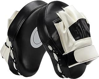 PAMASE 耐久性 パンチングミット キックミット ミット 左右汎用 キックボクシング ボクシングミット 格闘技ミット 耐衝撃性 テコンドー 左右1セット 総合格闘技 武術 トレーニング 男女兼用 軽量