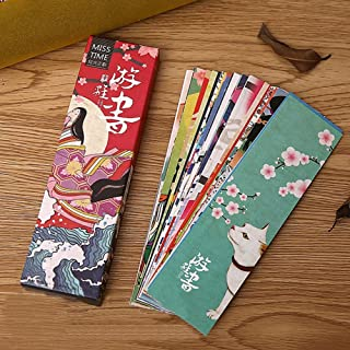 Loghot Colorful Japanese Style Paper Bookmark for Women Men Girls Boys Kids Teens