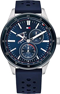 Tommy Hilfiger Men'S Blue Dial Blue Silicone Watch - 1791635