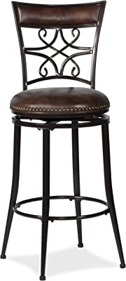 Miraculous Amazon Com Belham Living Woodward Extra Tall Swivel Bar Gamerscity Chair Design For Home Gamerscityorg