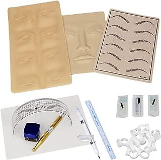 Permanent Makeup Microblading Eyebrow Tattoo kit Pen Needle Paste Skin Ruler (Tattoo kit-A)