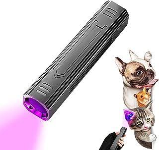 lehorra 365nm چراغ قوه UV ، قابل حمل ردیاب گربه گربه قابل حمل چراغ قوه چراغ قوه قابل شارژ حیوان خانگی آشکارساز ادرار حیوان خانگی لامپ تشخیص قارچ حیوانات خانگی