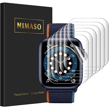 【6枚組】 NIMASO Apple Watch 44 / 42mm 用 保護 フィルム Apple Watch series SE / 6 / 5 / 4 / 3 対応 アップルウォッチ 用