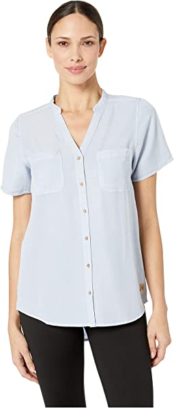 Pecan Short Sleeve Button Up