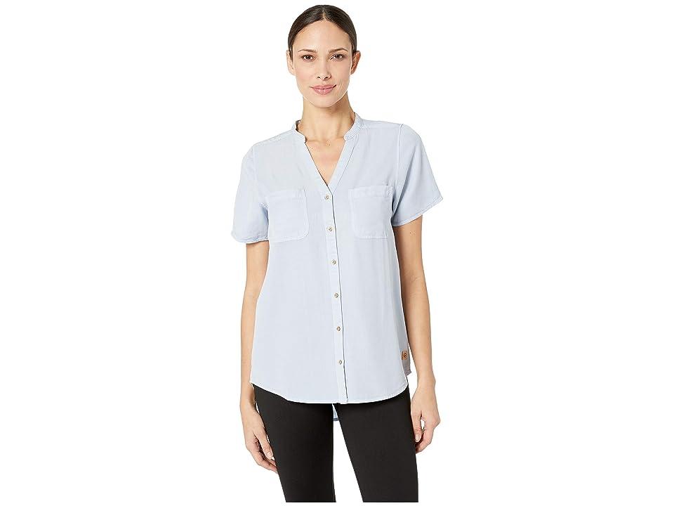 tentree Pecan Short Sleeve Button Up (Skyway) Women