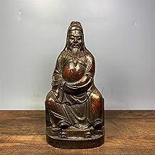 "Rijkdom Geluksbeeld 7""Tibet Boeddhisme Tempel Oud Brons Cinnabars Guan Gong Standbeeld Guan Yu Trouwe vertegenwoordiger De..."