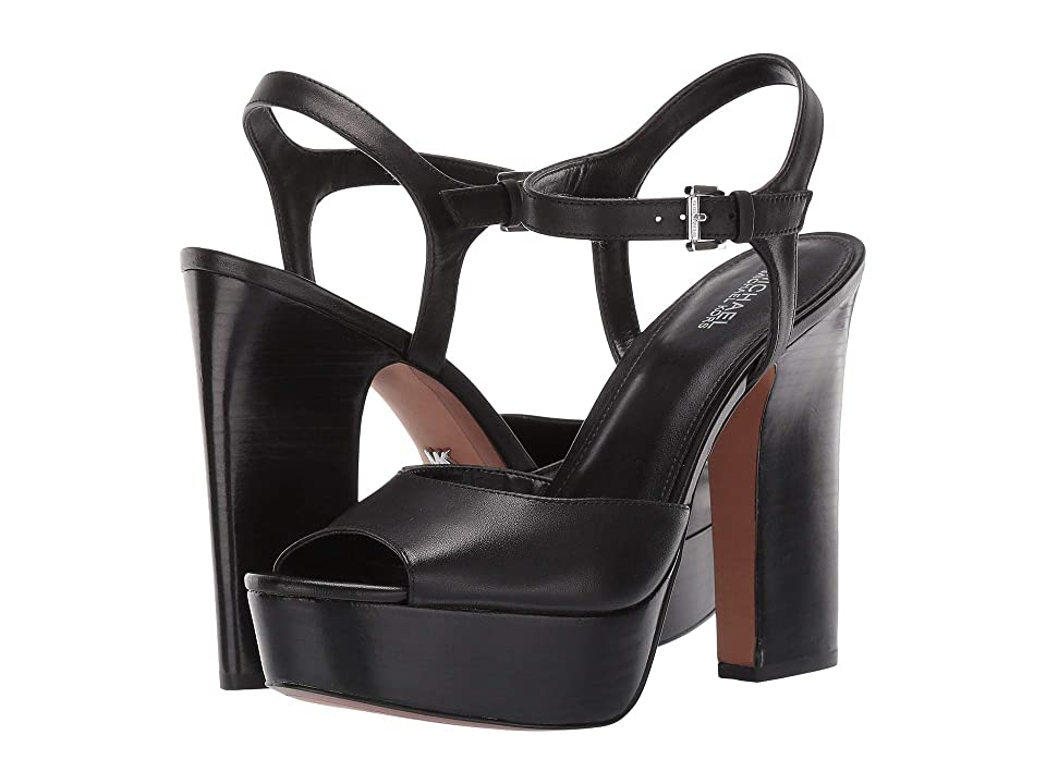 MICHAEL Michael Kors Bennett Platform (Black Vachetta) High Heels
