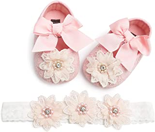 Tuoting Infant Baby Girl Shoes,Baby Mary Jane Flats Princess Dress Shoes,Crib Shoe for Newborns, Infants, Babies, and Toddlers