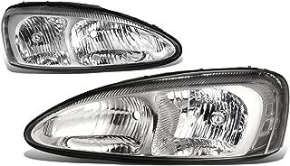 For Pontiac Grand Prix 7th Gen FT1 GT2 GTP Pair of Chrome Housing Clear Corner Headlight Lamp
