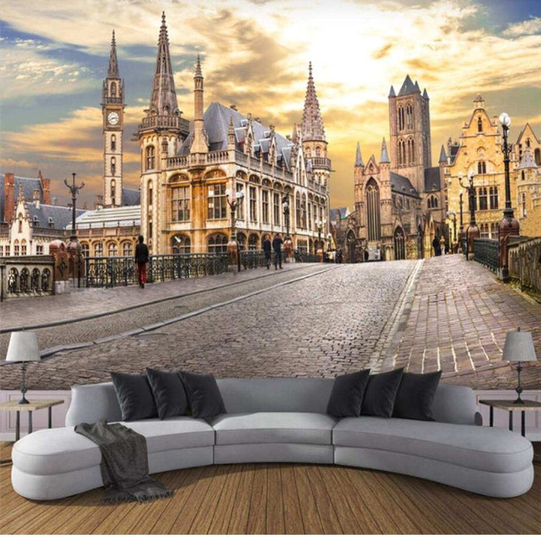 hasta un 60% de descuento Pbldb Fondo De Pantalla Pantalla Pantalla 3D Personalizado Ciudad Europea Vista De La Calle 3D Tv Sofá Fondo Pintura De Parojo Decoración-200X140Cm  venta con alto descuento