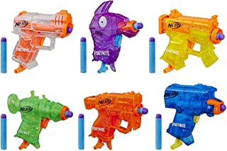 Nerf Fortnite Micro Ice Storm Collection -- Includes 6 Microshots Blasters & 12 Official Elite Darts -- For Youth, Teens, ...