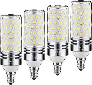 Yiizon E12 LED Corn Bulbs,15W LED Candelabra Light Bulbs 120 Watt Equivalent, 1500lm, Daylight White 6000K LED Chandelier Bulbs, Decorative Candle, Non-Dimmable LED Lamp(4-Pack)