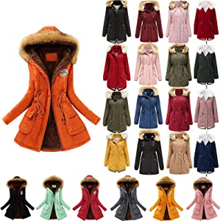Winter Coats for Women Plus Size Thick Fleece Lined Plush...