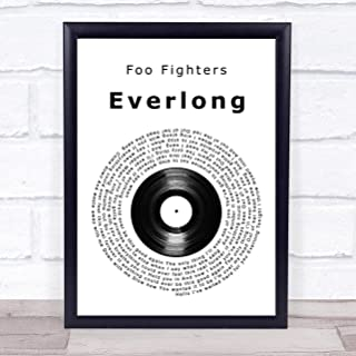 Everlong Vinyl Record Song Lyric Quote Print