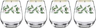 Lenox Holiday 4-Piece Stemless Wine Glasses