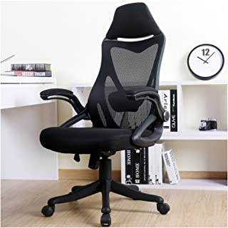 BERLMAN Ergonomic High Back with Adjustable Armrest Lumbar Support Headrest Swivel Task..